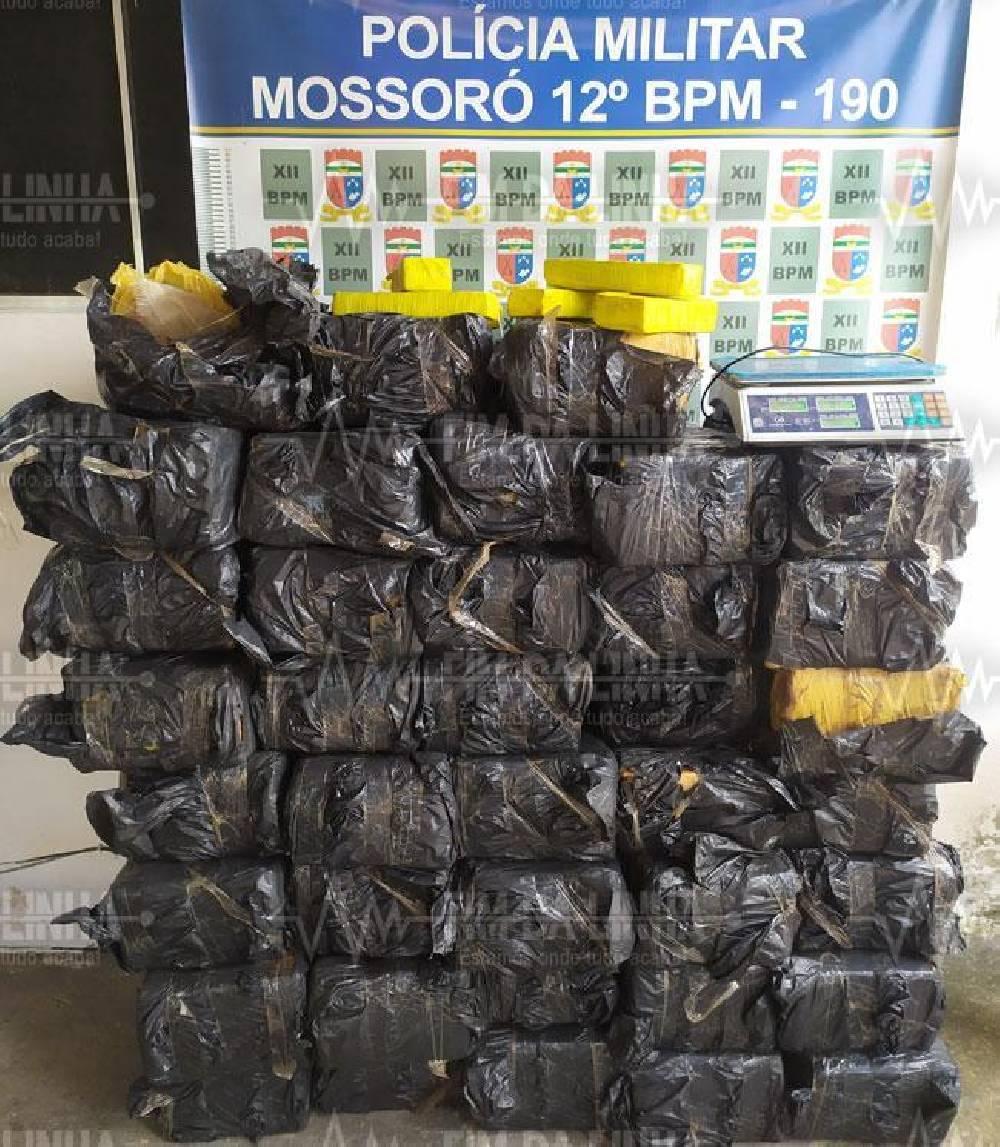 Polícia apreende quase 700 kg de maconha em cidade do RN